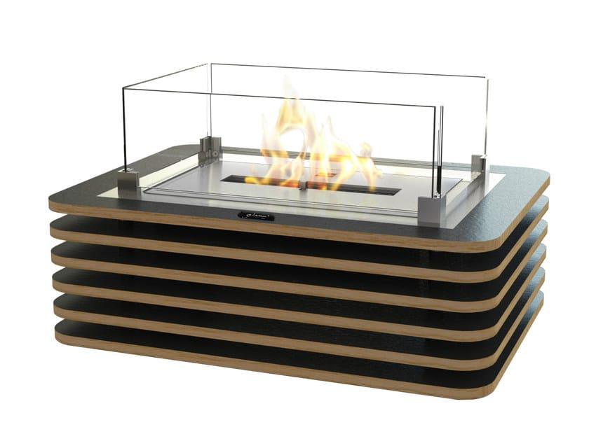 Table-top bioethanol oak fireplace MILWOOD - GlammFire