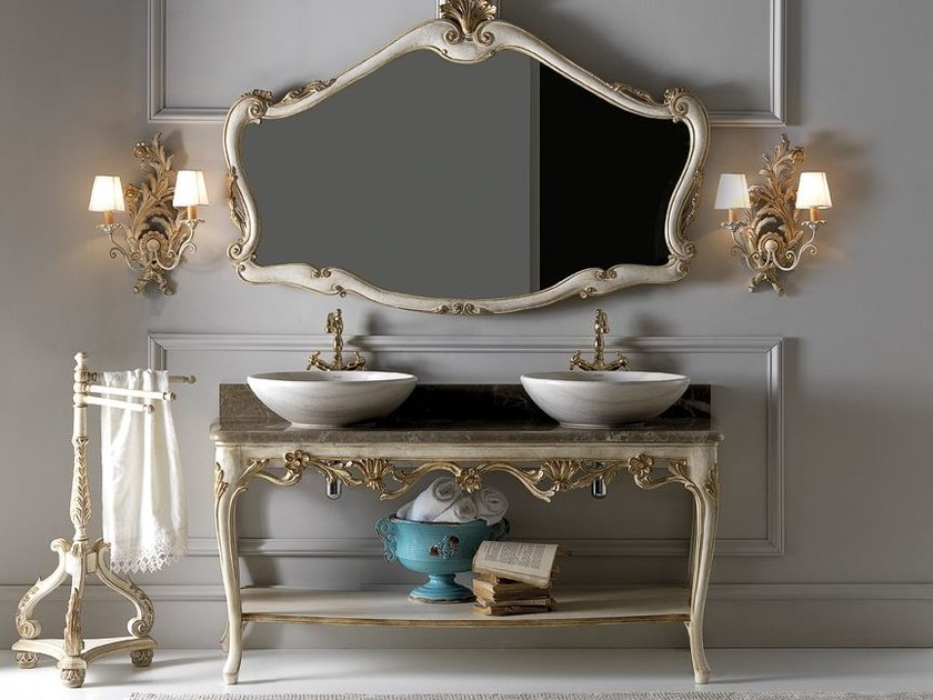 Double console sink with mirror 3013-3670 | Double console sink - Grifoni Silvano
