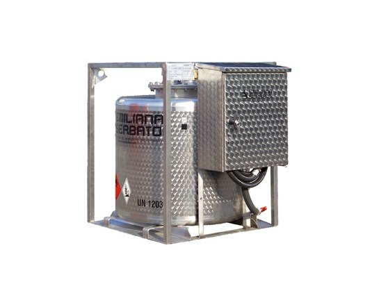 Basin, cistern and tank for water works TRASPO® 330 INOX - EMILIANA SERBATOI