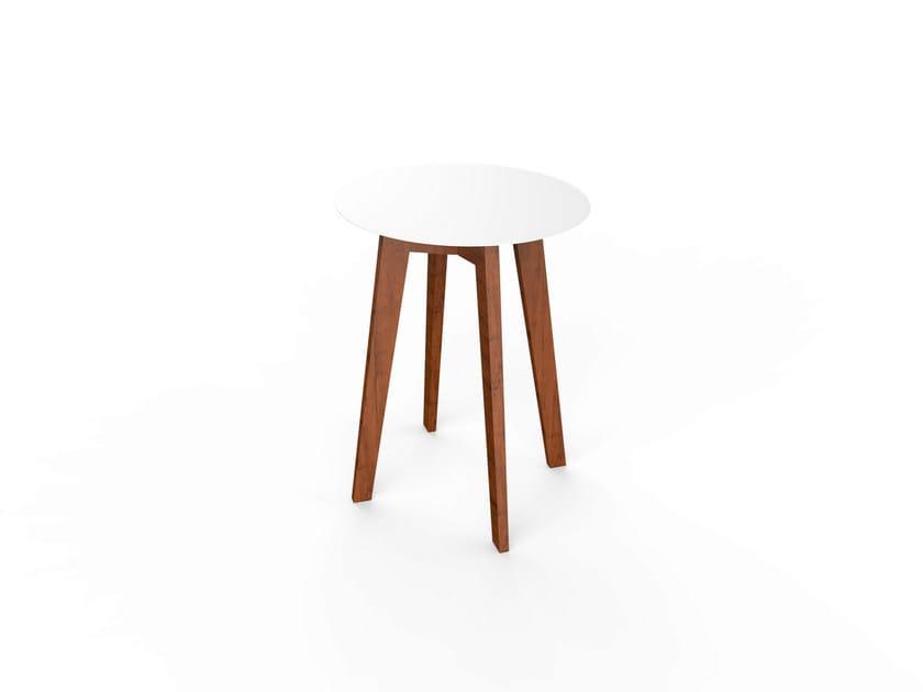 Round Corian® table SLIM WOOD TABLE 64 - VITEO