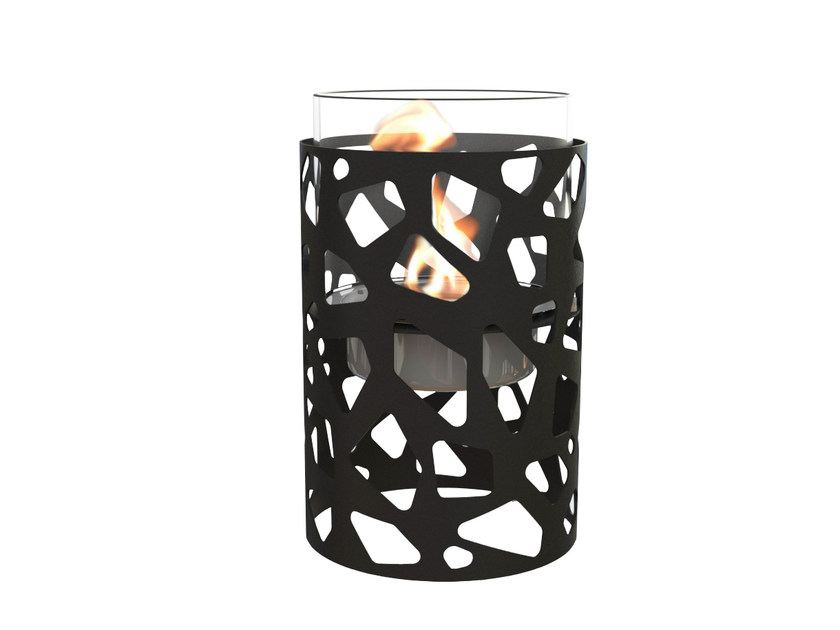 Lacquered bioethanol steel fireplace TILE by GlammFire