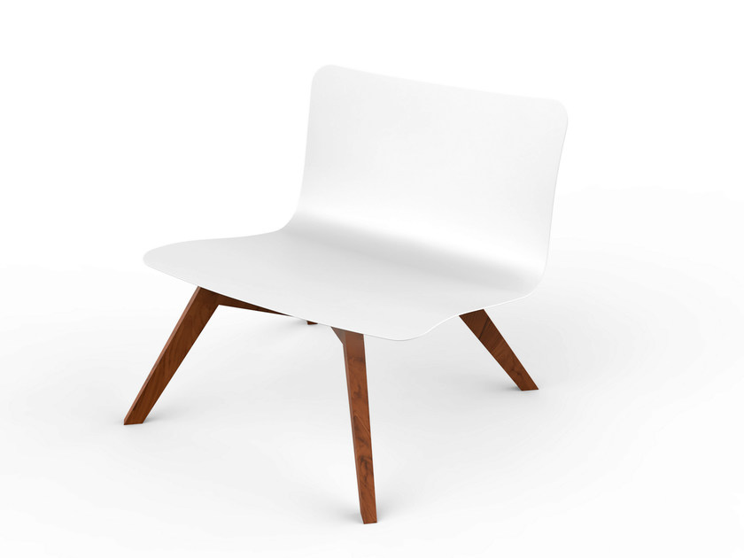 Corian® garden armchair SLIM WOOD | Easy chair - VITEO