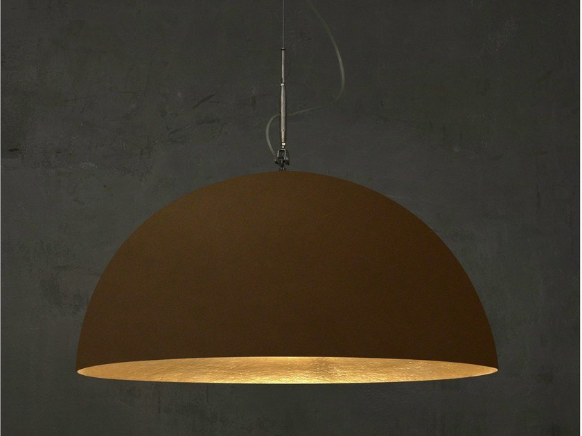 Bronze pendant lamp MEZZA LUNA 1 BRONZO - In-es.artdesign
