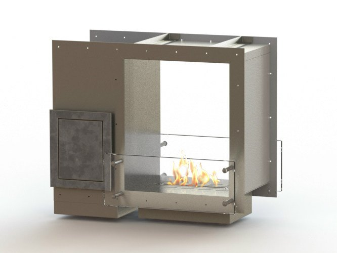 Open built-in bioethanol fireplace GLAMMBOX 420 DF CREA7ION - GlammFire