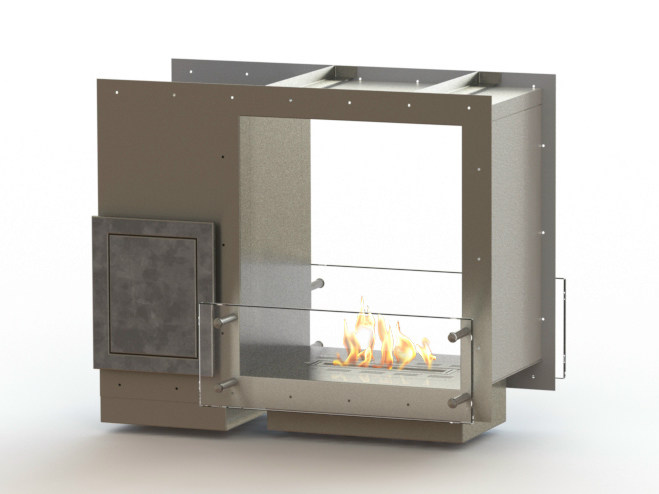 Open built-in bioethanol fireplace GLAMMBOX 450 DF CREA7ION - GlammFire