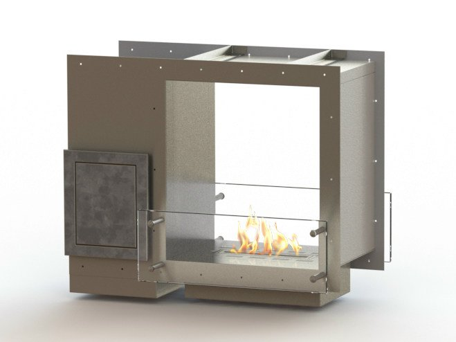Open built-in bioethanol fireplace GLAMMBOX 450 DF CREA7ION by GlammFire