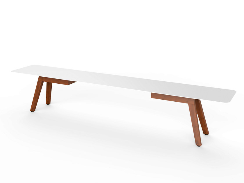 Corian® garden bench SLIM WOOD BENCH 240 - VITEO