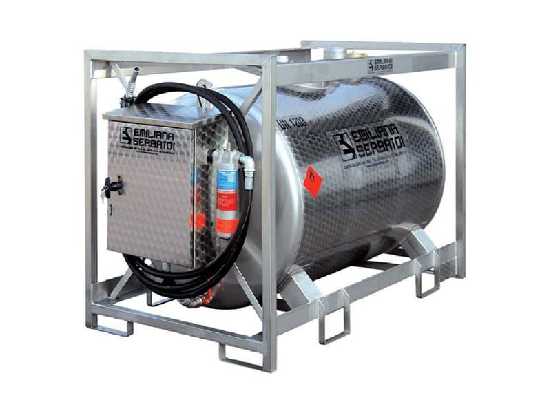Basin, cistern and tank for water works TRASPO® 910 INOX - EMILIANA SERBATOI