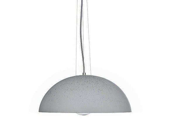 Concrete pendant lamp GLOBUS 410 - URBI et ORBI