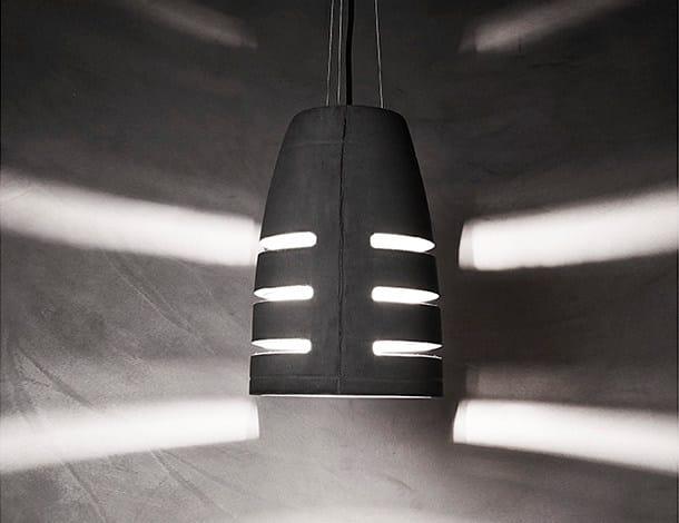Concrete pendant lamp BATTAGLIA 210 - URBI et ORBI