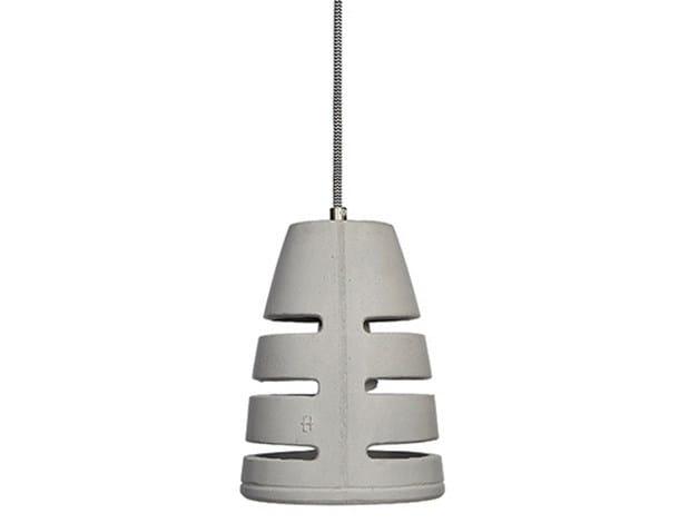 Concrete pendant lamp BATTAGLIA 150 - URBI et ORBI