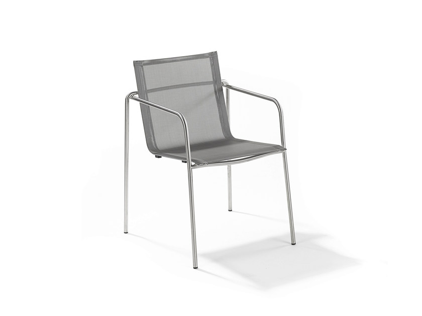 Stackable garden chair with armrests TAKU | Chair with armrests by FISCHER MÖBEL