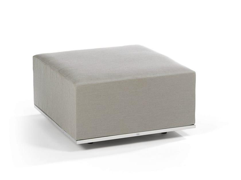 Upholstered fabric garden pouf SUITE | Pouf - FISCHER MÖBEL