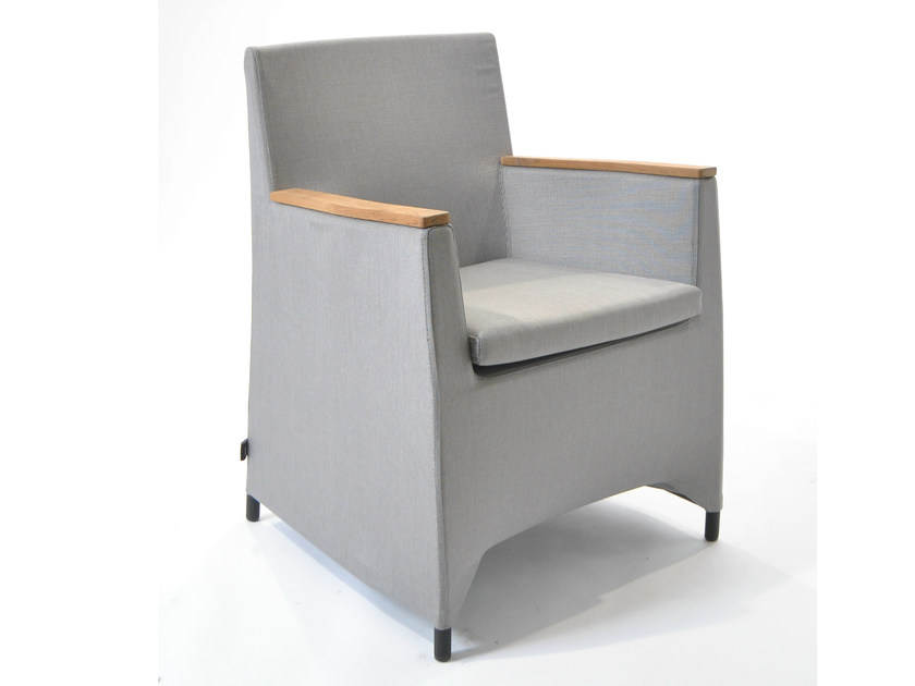 Fabric easy chair with armrests RIO | Easy chair - FISCHER MÖBEL