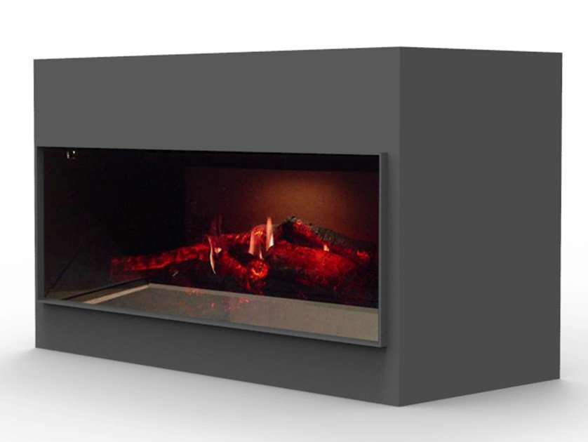 Electric freestanding fireplace with remote control KIT OPTI - V SINGLE - GlammFire