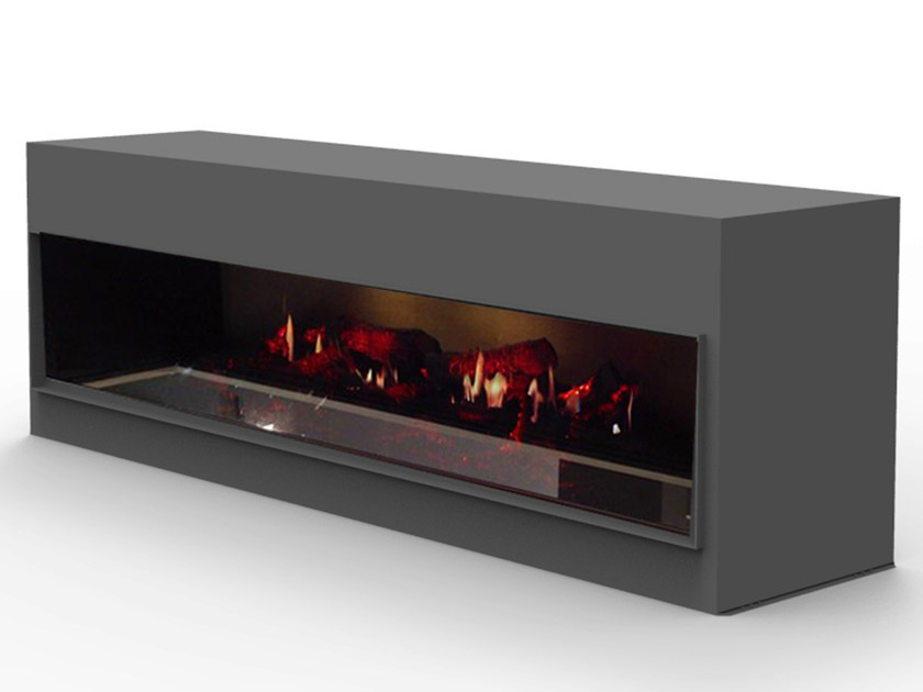 Electric freestanding fireplace with remote control KIT OPTI - V DOUBLE - GlammFire