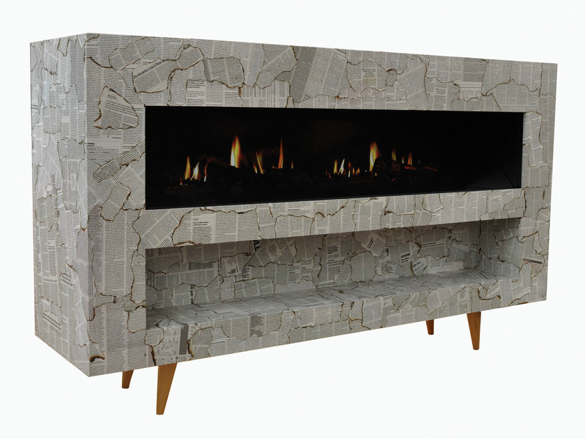 Electric MDF fireplace with remote control VINTAGE - GlammFire