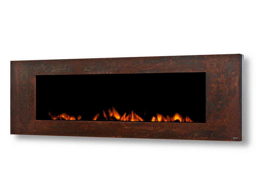 Electric wall-mounted Corten™ fireplace GL 1700 - GlammFire