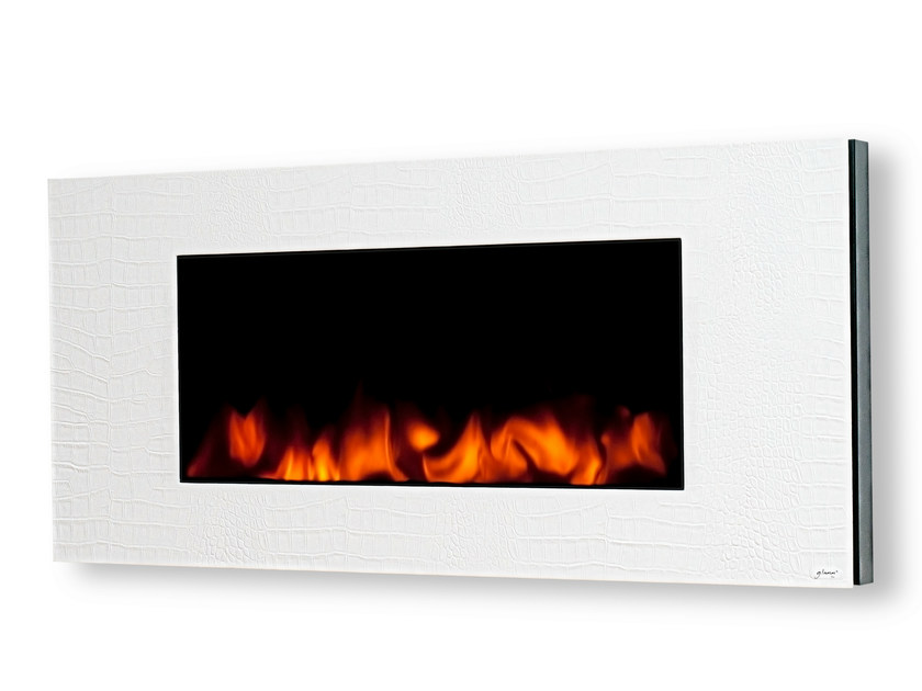 Electric wall-mounted leather fireplace GL 1200 by GlammFire