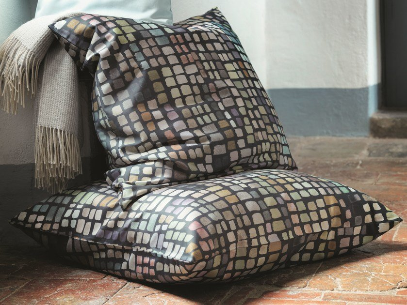 Linen upholstery fabric with graphic pattern FORTE - Zimmer + Rohde