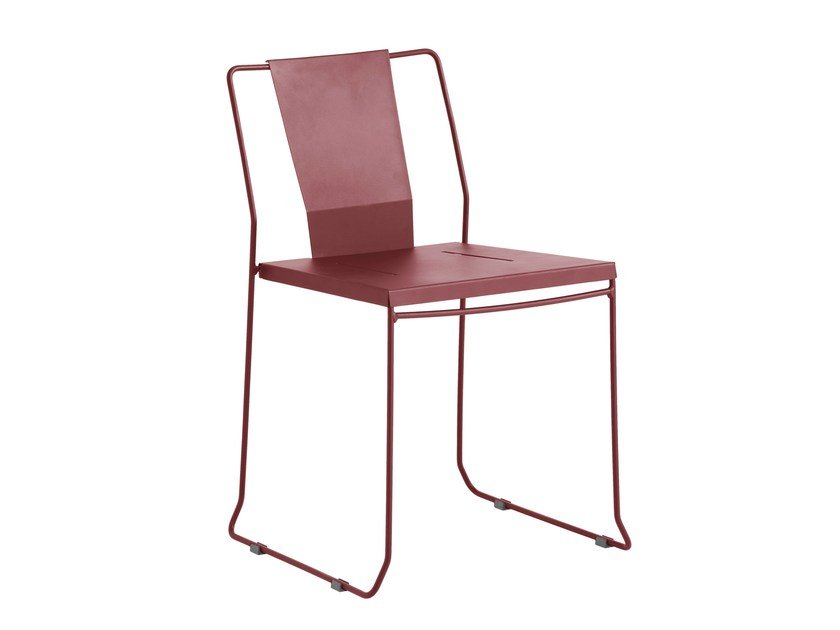 Sled base galvanized steel garden chair CHICAGO | Sled base chair by iSimar