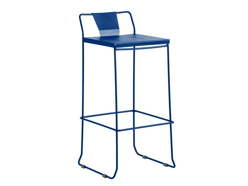 Sled base galvanized steel chair with footrest CHICAGO | Chair by iSimar