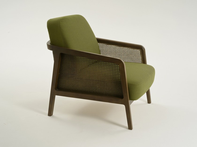 Upholstered armchair with armrests VIENNA | Armchair - Colé Italian Design Label