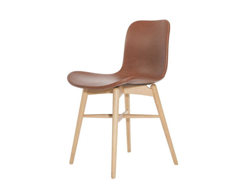 Scandinavian style tanned leather chair LANGUE ORIGINAL | Tanned leather chair by NORR11