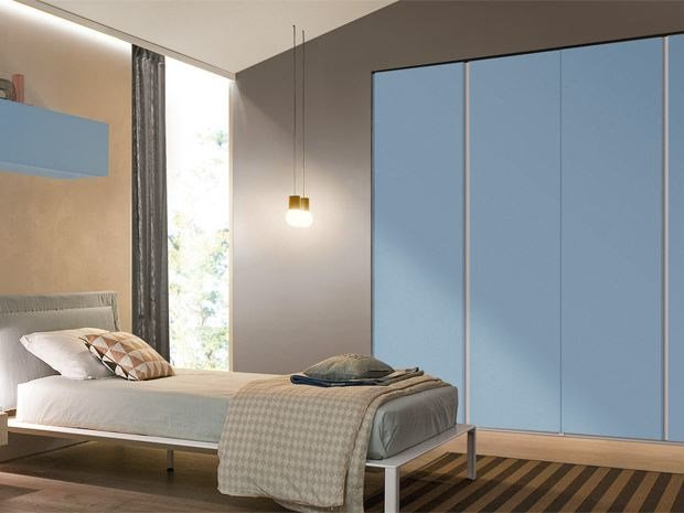 Built-in lacquered wardrobe for kids' bedrooms COMBI SYSTEM | Wardrobe for kids' bedrooms - Zalf
