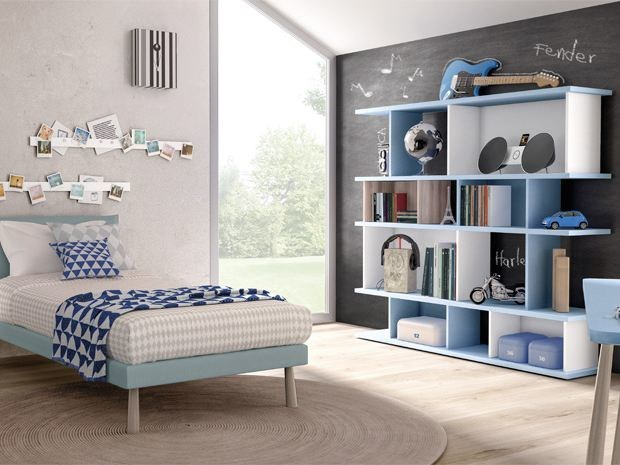 Freestanding lacquered bookcase DOMINO | Lacquered bookcase - Zalf