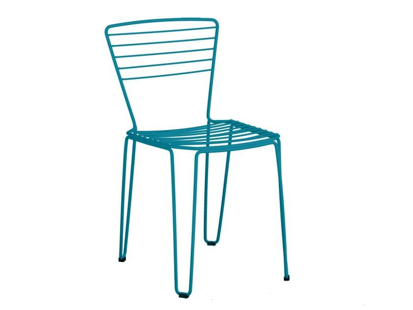 Galvanized steel garden chair MENORCA | Chair - iSimar