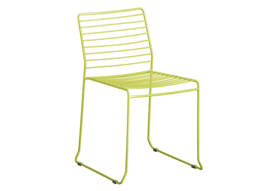 Sled base galvanized steel garden chair TARIFA | Chair - iSimar