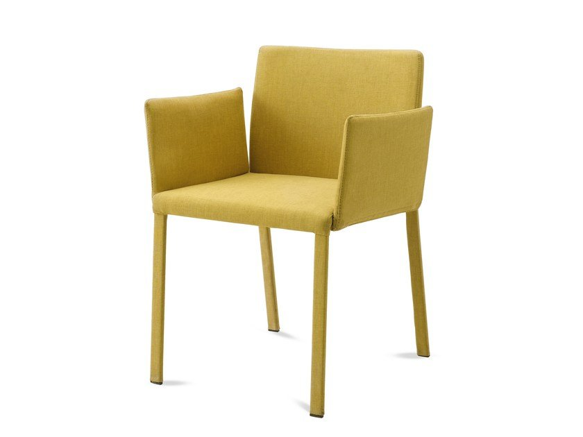 Upholstered chair with armrests CHLOE-P by DOMITALIA