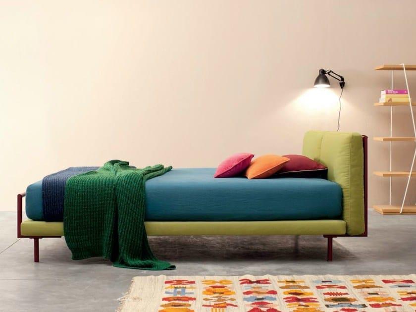 Double bed with upholstered headboard # 02 CAMALEO - Twils