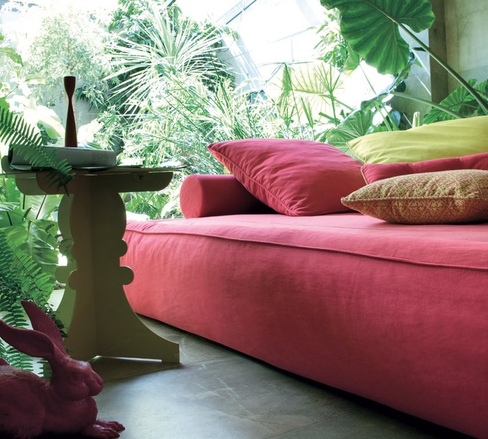Letto letto da giardino in tessuto academy piuma sommier - Letto da giardino ...