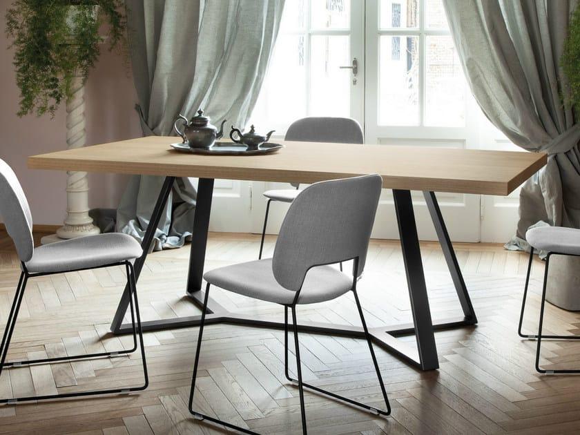 Rectangular table ARCHIE-L200 - DOMITALIA