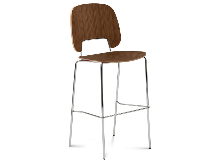 Multi-layer wood counter stool TRAFFIC | Counter stool - DOMITALIA