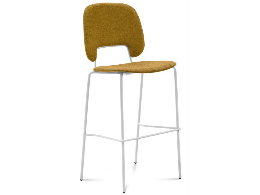 Upholstered counter stool TRAFFIC | Counter stool - DOMITALIA