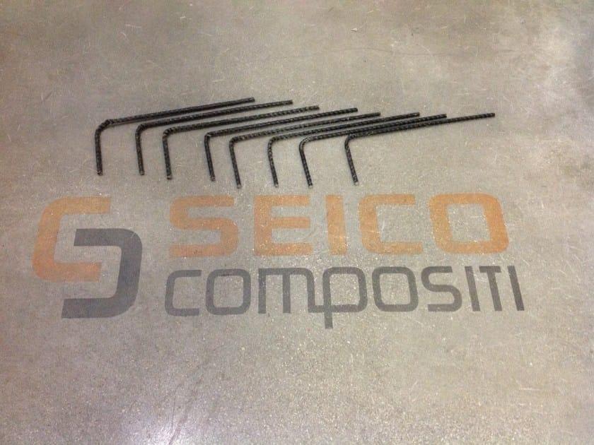 Steel bar, rod, stirrup for reinforced concrete BASALFIX L10/30 by Seico Compositi