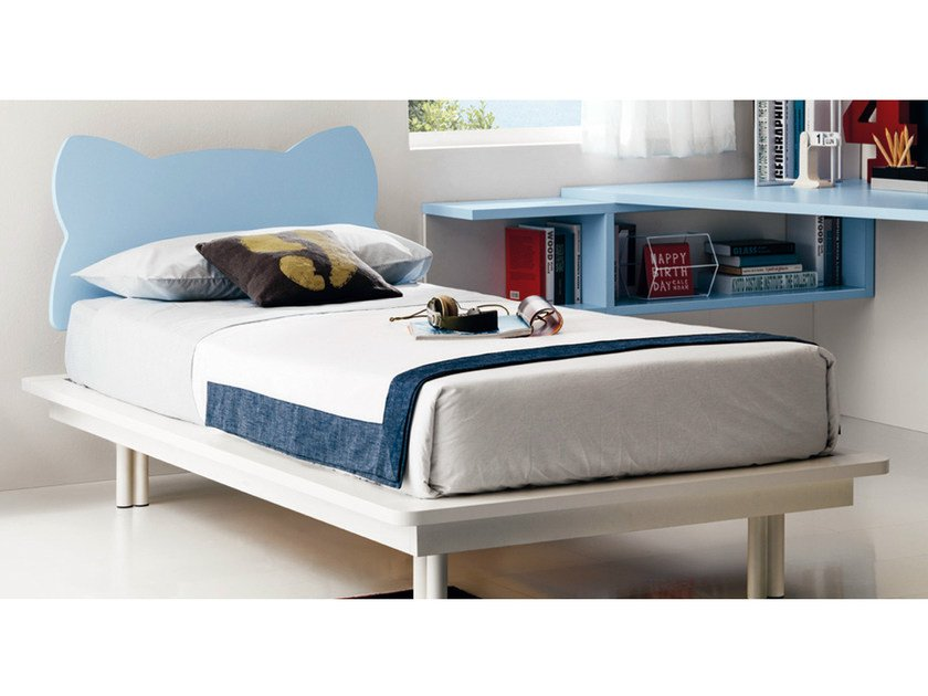 Melamine single bed for kids' bedroom FUNNY by Zalf