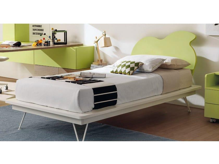 Melamine single bed for kids' bedroom AMBO - Zalf