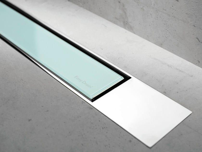Glass shower channel MODULO DESIGN Z-2 GREEN GLASS + CHROME - Easy Sanitary Solutions