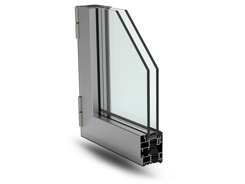 With concealed fittings window PLANET 62 HI - ALsistem