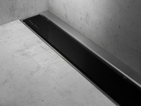 Shower channel MODULO TAF WALL BLACK GLASS - Easy Sanitary Solutions