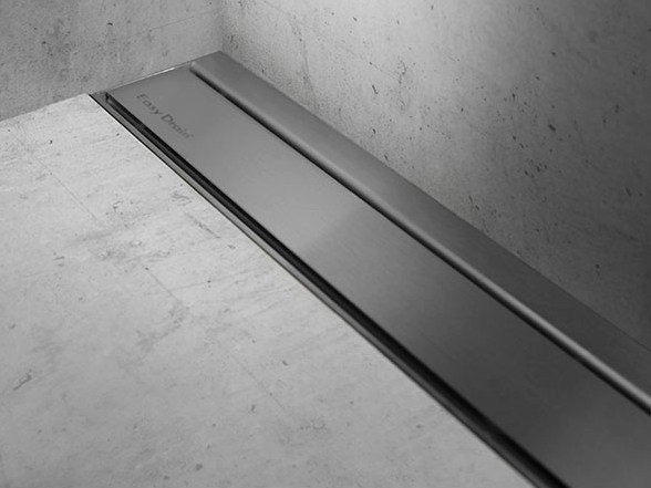 Shower channel MODULO TAF WALL BRUSHED STAINLESS - Easy Sanitary Solutions