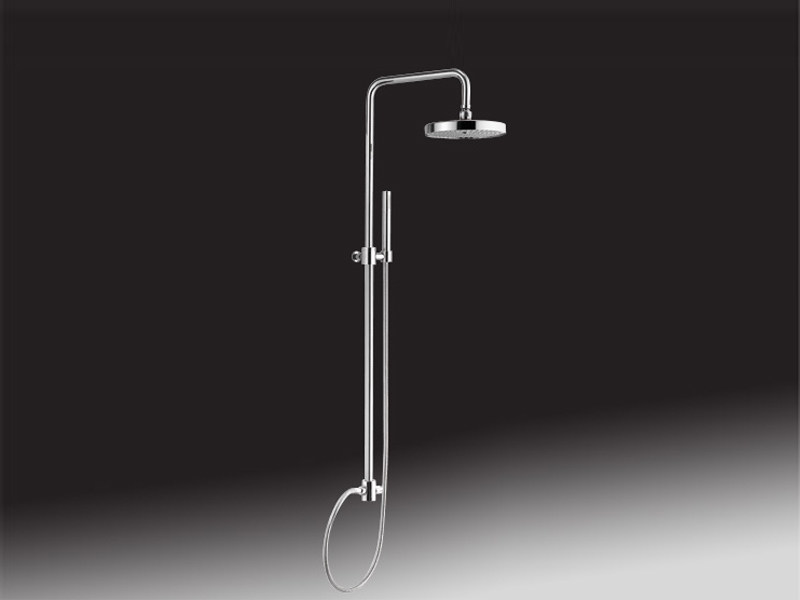 Shower wallbar with diverter with hand shower with hose 1650 | Shower wallbar with overhead shower - Giulini G. Rubinetteria