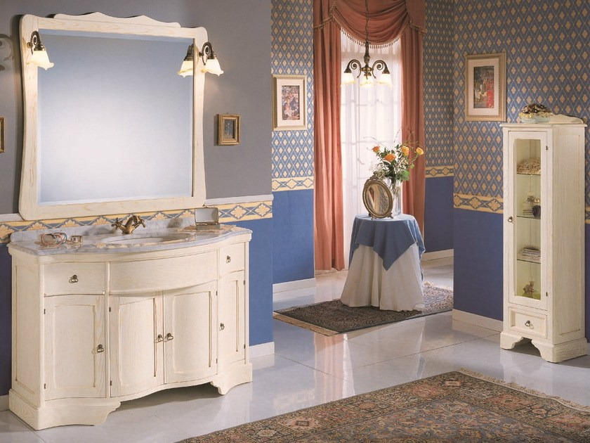 Floor-standing console sink MIREA 04 - Mobiltesino