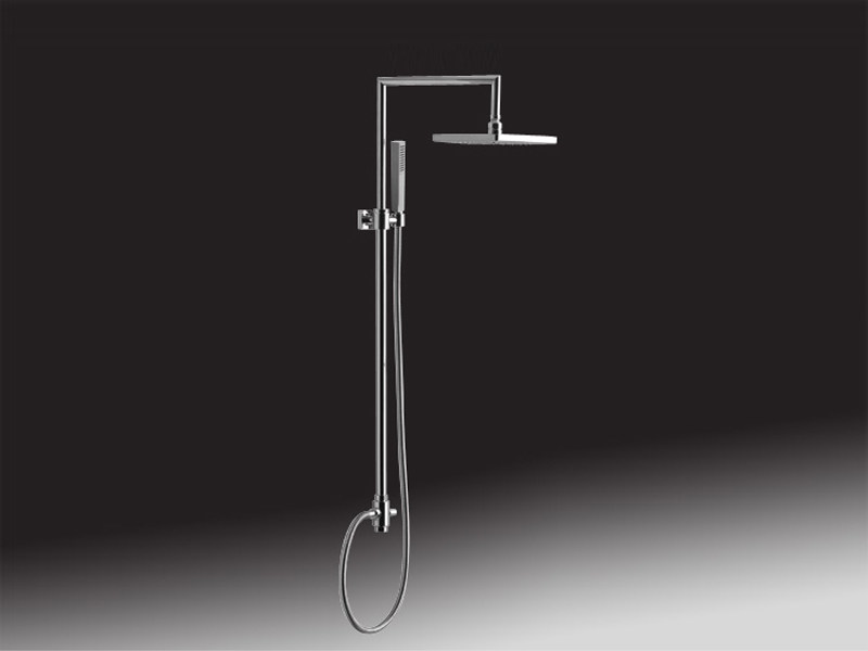 Shower wallbar with diverter with hand shower with hose 1652 | Shower wallbar with overhead shower - Giulini G. Rubinetteria
