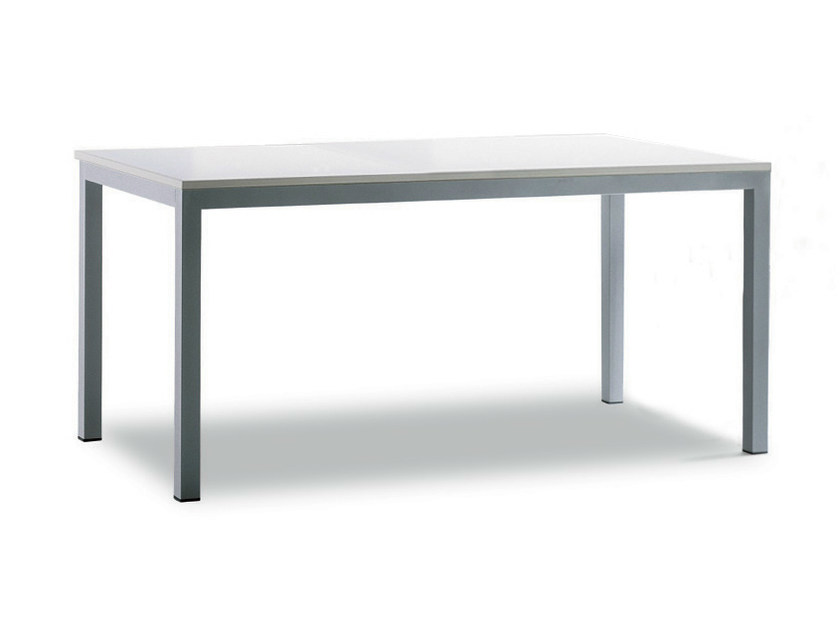 Lacquered rectangular table MINIMUS - Zalf