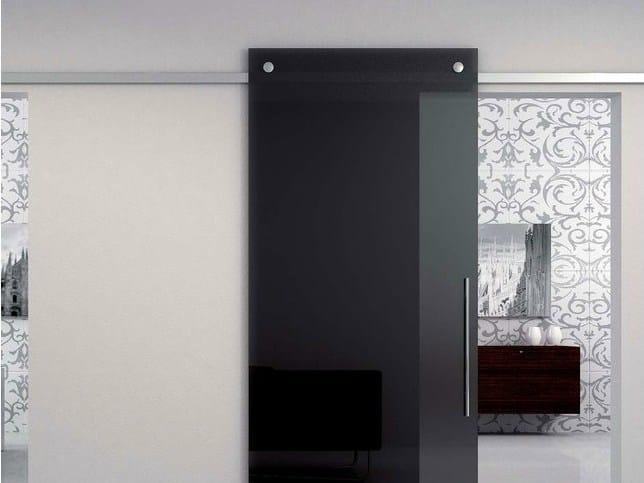 Metal sliding door track Minimal Quadro V-6400 - Metalglas Bonomi